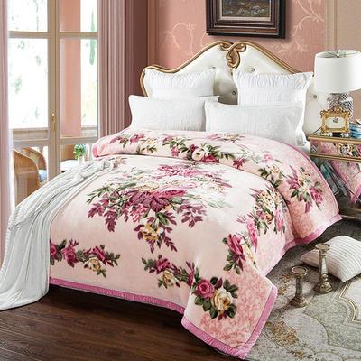 安哥拉精品毯,婚庆毯,云毯,保暖毯, 200cmx230cm 花照影