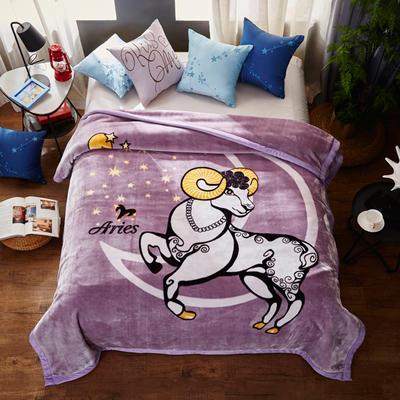 2018新款-夢幻星座云毯.空調毯.個性毯.空調被 200*230cm 白羊座