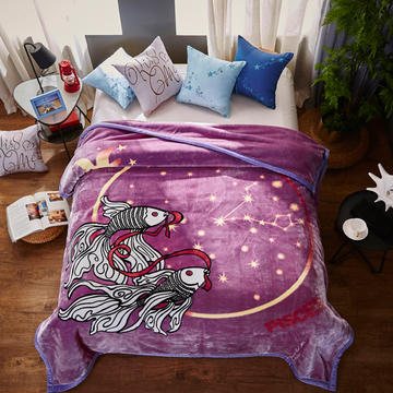 2018新款-梦幻星座云毯.空调毯.个性毯.空调被