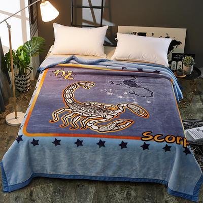 2018新款-梦幻星座云毯.空调毯.个性毯.空调被 200*230cm 天蝎座
