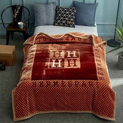 2018新款-单人加厚云毯 150*200cm 品调-咖啡色