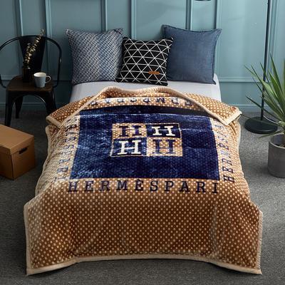 2018新款-单人加厚云毯.保暖毯.空调毯. 150*200cm 品调-卡其色