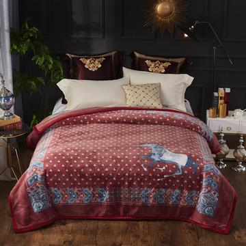 2019新款仿羊毛毯阿尔巴卡毯,云毯,精品毯,高档毛毯,婚庆毯,