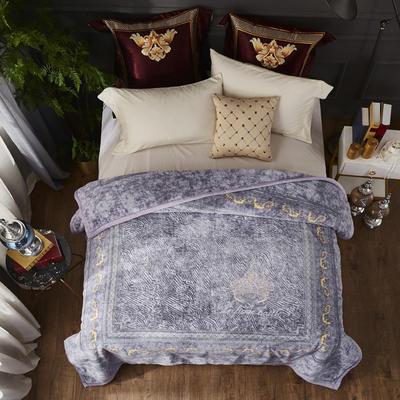 2019新款仿羊毛毯阿尔巴卡毯,云毯,精品毯,高档毛毯,婚庆毯, 200cmx230cm 紫罗兰