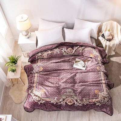 2019新款仿羊毛毯阿尔巴卡毯,云毯,精品毯,高档毛毯,婚庆毯, 200cmx230cm 安德鲁