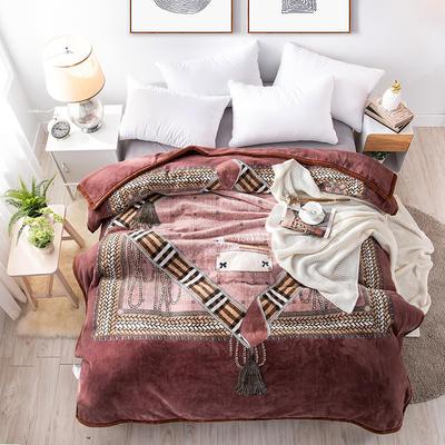 2019新款-年仿羊毛阿尔巴卡毯毛毯,云毯,精品毯,高档毛毯,婚庆毯, 200cmx230cm 漠望