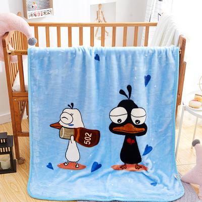 精品儿童云毯  学生毛毯.毛毯.保暖毯 110x140cm 不二(浅蓝)