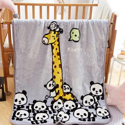 精品儿童云毯  学生毛毯 110x140cm 游乐园(灰)