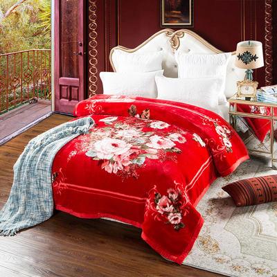 安哥拉精品毯,婚庆毯,云毯,保暖毯, 200cmx230cm 莫妮卡