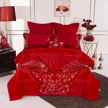 19.精品翡翠毯,婚庆毯,保暖毯,大红.结婚毛毯,云毯