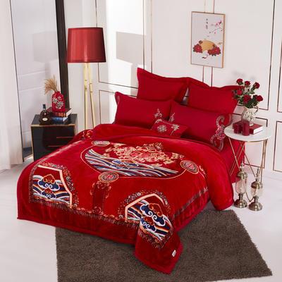 19.精品翡翠毯,婚庆毯,保暖毯,大红.结婚毛毯,云毯 200cmx230cm 中国风