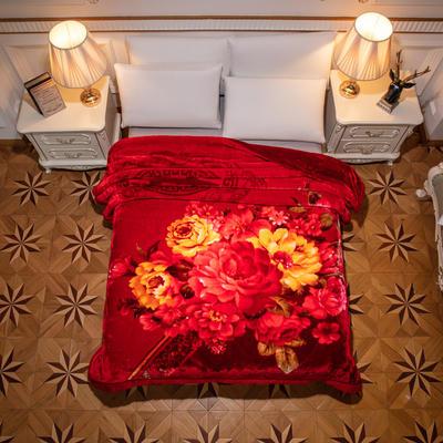 2019新款红妆婚庆加厚云毯.毛毯.保暖毯 200cmx230cm(双层) 一见钟情