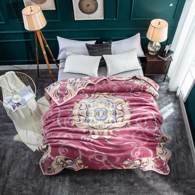 新款双层纯羊毛毯.婚庆毯.毛毯.保暖毯大红.结婚 200cmx230cm(双层) 情有独钟