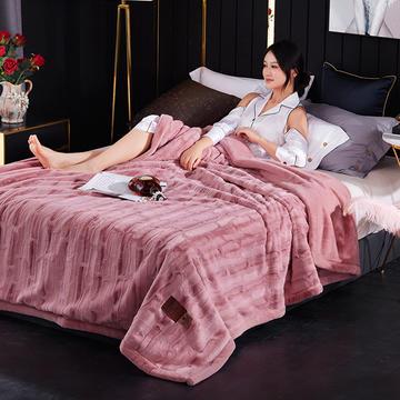 新款精品仿毛皮盖毯.婚庆毯.毛毯.保暖毯大红.结婚毯.婚庆毯