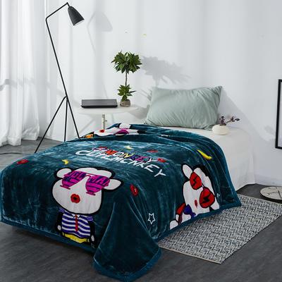 云毯系列 单人云毯,毛毯,保暖毯,学生毯, 150cm*200cm 调皮猴