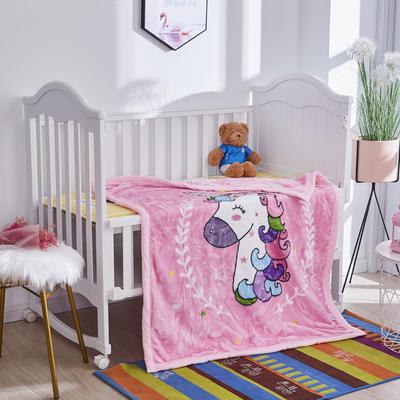 2019新款加厚儿童云毯.毛毯.童毯.保暖毯 105*130 马卡龙