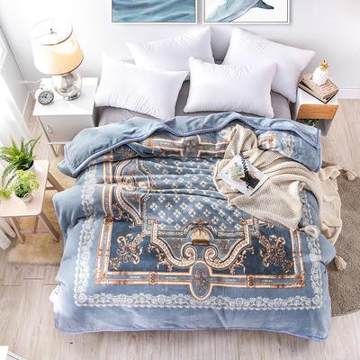 2019新款仿羊毛毯阿尔巴卡毯,云毯,精品毯,高档毛毯,婚庆毯, 200cmx230cm 琳琅庄园