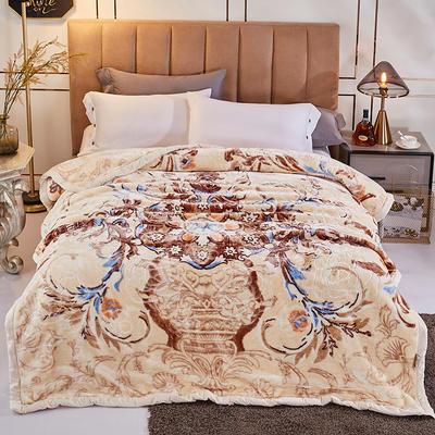 新款5D压花精品天丝云毯.精品毯,高档毛毯,婚庆毯,大红结婚保暖毯 200cmX230cm(2.8公斤) 时光流影