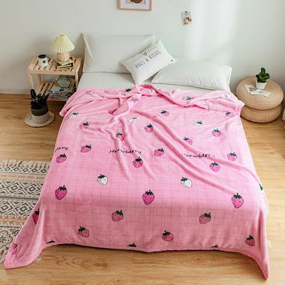 2020新款单层云毯.保暖毯 180cmx200cm 草莓粉