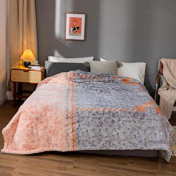 2020新款仿皮草拼色系列毛毯