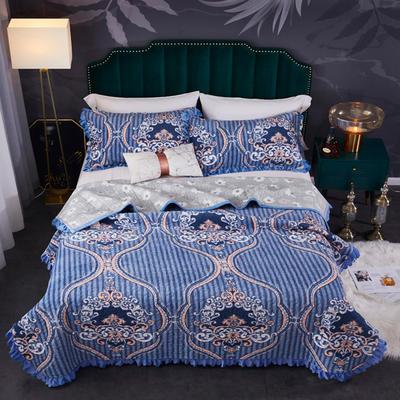 2020新款.爆款.牛奶绒.乳胶盖毯.毛毯.保暖毯.床盖 150*220cm单床盖 北欧情