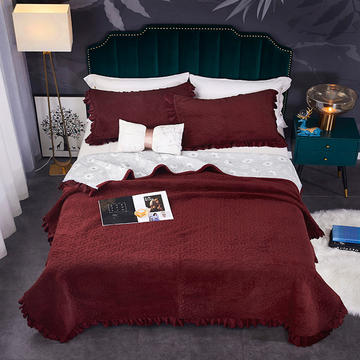 2020新款.爆款.牛奶绒.乳胶盖毯.毛毯.保暖毯.床盖