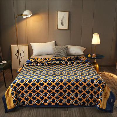 2020新款AB版轻奢毯系列单层复合毯 200cmx230cm 巴黎世家