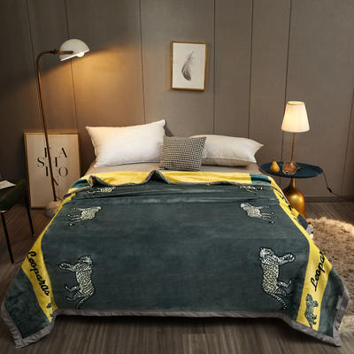 2020新款AB版轻奢毯系列单层复合毯 200cmx230cm 豹之恋