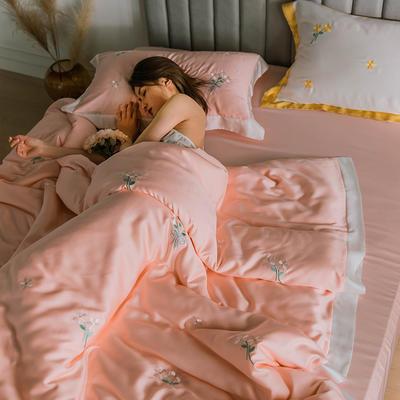 2020新品60支天丝北欧风晴系列 1.5m(5英尺)床 晴-嫣粉