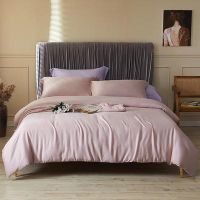 100支莱赛尔正品天丝纯色四件套 1.5m(5英尺)床 茱萸粉