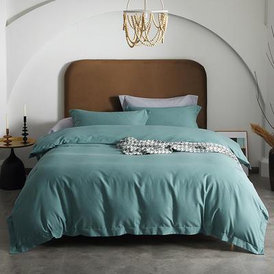 80支全棉磨毛抑菌功能四件套悦系列 1.2m(4英尺)床 磨毛-晚波蓝