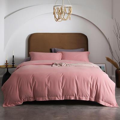 80支全棉磨毛抑菌功能四件套悦系列 1.2m(4英尺)床 磨毛-薄雾玫瑰
