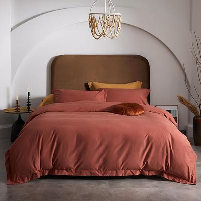 80支全棉磨毛抑菌功能四件套悦系列 1.2m(4英尺)床 磨毛-焦糖色