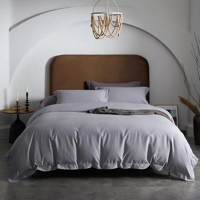 80支全棉磨毛抑菌功能四件套悦系列 1.2m(4英尺)床 磨毛-雪灰色