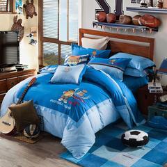 睡睡羊活性绣花系列《足球俱乐部》会员款 150X205