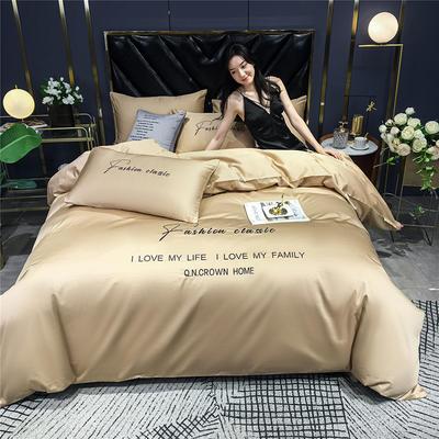 2020新款亲肤洛卡棉系列四件套-梵 1.8m床单款四件套 梵-奶咖