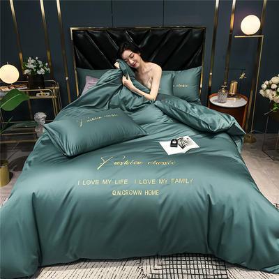 2020新款亲肤洛卡棉系列四件套-梵 1.8m床单款四件套 梵-浅石兰