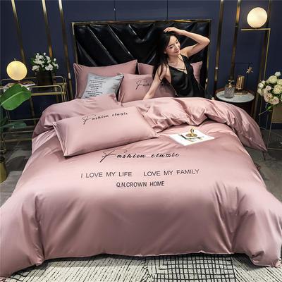 2020新款亲肤洛卡棉系列四件套-梵 1.5m床单款四件套 梵-紫豆沙