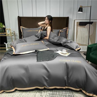 2020新款洛卡棉系列四件套-潮 1.5m床单款四件套 潮-高级灰