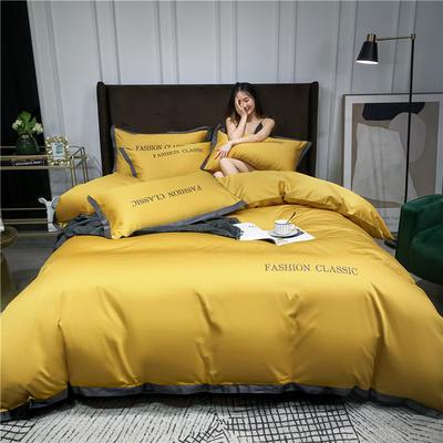 2020新款洛卡棉系列四件套-潮 1.8m床单款四件套 潮-姜黄
