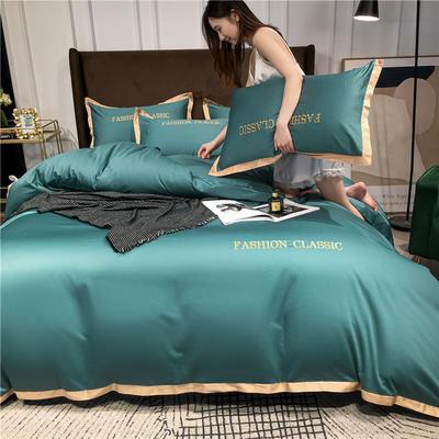 2020新款洛卡棉系列四件套-潮 1.8m床单款四件套 潮-浅石兰