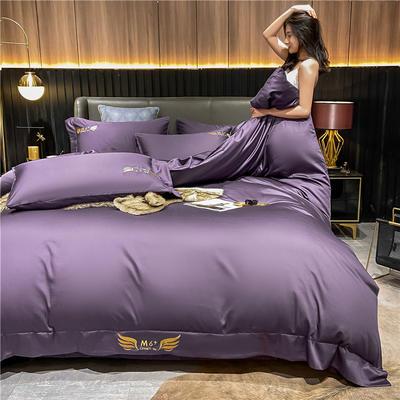 2021新款40全棉梦系列四件套系列 1.5m床单款四件套 梦-帝王紫
