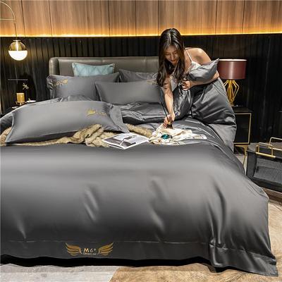 2021新款40全棉梦系列四件套系列 1.5m床单款四件套 梦-高级灰