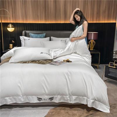 2021新款40全棉梦系列四件套系列 1.5m床单款四件套 梦-贵族白