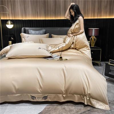 2021新款40全棉梦系列四件套系列 1.5m床单款四件套 梦-香槟金