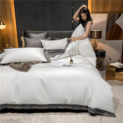 2021新款40全棉钰系列四件套系列 1.5m床单款四件套 钰-贵族白