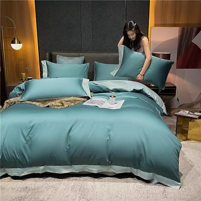 2021新款40全棉钰系列四件套系列 1.8m床单款四件套 钰-浅石蓝