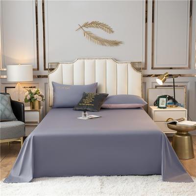 水洗棉-S单床单+床笠 床单245*245 紫灰
