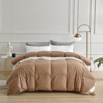 2020新款全棉防羽布单边羽绒被 150x200cm 3斤 褐粽色