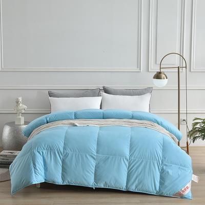 2020新款全棉防羽布单边羽绒被 150x200cm 3斤 天之蓝
